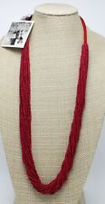 New Red Seed Bead Necklace by Anthropologie NWT #ANT4