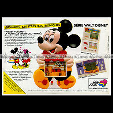ORLITRONIC MICKEY DISNEY Jeu LCD Game No GAME & WATCH 1984 : Pub Advert Ad #B638