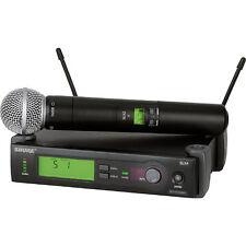 Shure SLX24/SM58 Handheld Wireless Microphone System (G4: 470-494 MHz)