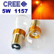 2x Bay15d 1157 380 Color Ámbar Cree Q5 1-smd Led 5w deja Cola Doble Filamento 12v