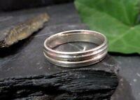 Toller 925 Sterling Silber Ring LS Signiert Damen Herren Unisex Daumen Groß Chic