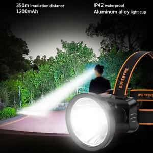 Super bright LED Headlamp Rechargeable Waterproof Headlight Flashlight Torch  -