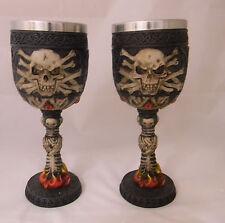 Wedding Party Reception Bride Groom Toasting Glasses Goth Gothic Skull Skeleton