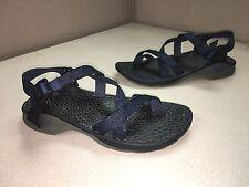 Men's Chaco Vibram Adjustable Strap Blue Sport Hiking Water Sandals SZ 10 EUC