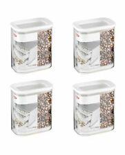 Mepal 106912030600 Modula Vorratsdose Kunststoff 1500 ml transparent/weiß (4er)