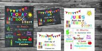 PERSONALISED First day of School/ Reception/ Nursery Print A4 + FREE Sign A4