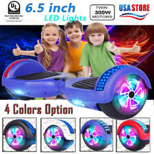 """6.5"""" All Terrain Hover boards Electric Kid Car 2 Seat Self Balancing Scooter Ul"""