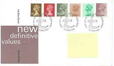 wbc. - GB - FIRST DAY COVER - FDC - DEFINITIVES -1982 - 6 vals to 29p - Pmk W