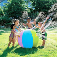75CM Inflatable Water Spray Ball Sprinkler Toys Kids Lawn Beach Outdoor Summer