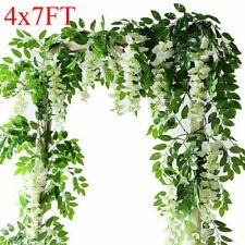 4x7FT Artificial Wisteria Vine Garland Plant Foliage Trailing Flower Home Decor