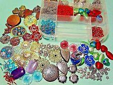 Jewelry Making Craft Supplies Mix Lot Beads Pendants Bead Case