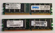 1 GB 2 X 512 MB PC3200 DDR1 400MHz 184 Pin DIMM Desktop RAM Memory