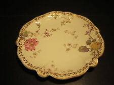 "Fancy Antique GOA Limoges Marked 9 3/4"" Porcelain Plate"