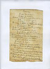 THOMAS HOOD 1799-1845 London Athenaeum Punch manuscript poem COA