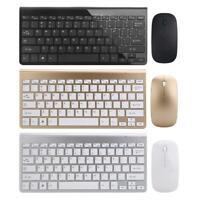 Ultra Thin Mini USB 2.4 G Wireless Keyboard Optical Mouse Kit Set For PC Desktop
