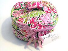 Vera Bradley PINWHEEL PINK Cosmetic TOTE Travel CRAFTS Sewing JEWELRY Hatbox NWT