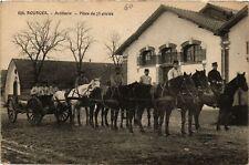 CPA  Bourges - Artillerie - Piece de 75 attelée  (634375)