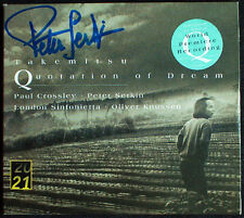 Peter SERKIN signed Takemitsu quotation of Dream Day Night Signal Knussen CD