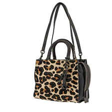 Coach Ladies Satchel bag 1941 Rogue Leopard Hrcf Lp Rg 25 32872 BPNSH