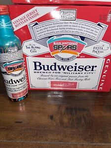 1 LIMITED EDITION SAN ANTONIO SPURS BUDWEISER ALUMINUM BEER BOTTLE FIESTA COLORS