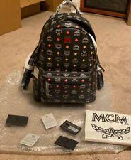 MCM Spectrum Diamond Black Backpack Size 40 Large NWT 💯 Authentic