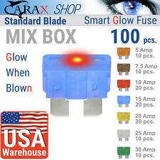 Fuse STANDARD blade smart regular fuse LED automotive mix set Glow Blown ATC ATO