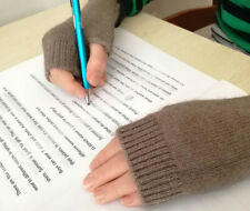 Pure Cashmere Fingerless Gloves Mittens Children Pupils Students Writing age7-11