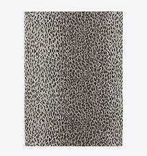 Saint Laurent YSL Signature Grande Stole Scarf Beige Black Babycat Leopard Print