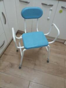 Shower seat and support frame