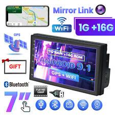 "Android 9.1 7"" Autoradio con GPS Sat NAV BT WIFI pantalla táctil MP5+ marco 2DIN"