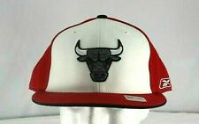Chicago Bulls Red/ White Baseball Hat  Fitted Size 8