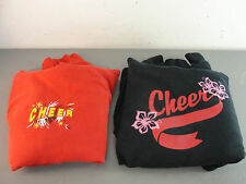 CHEERLEADER HOODIE SWEATSHIRT COSTUME RED BLACK CARDINALS GILDAN HAIR TIE HOODY