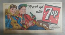 7-Up Ad: Fresh Up With Seven-Up! Making Music Together !1940's  7.5 x 15 inches