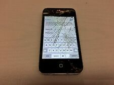 APPLE IPHONE 4 (BLACK) UNKNOWN CARRIER (LOCKED)(CRACKED SCREEN)