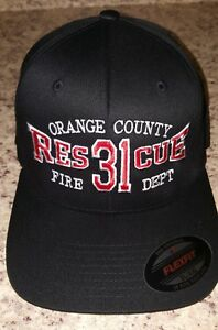 Firefighter Ball Cap  Fire Department Hat Custom Embroidery Available