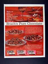 1962 Brach's Brachs Chocolate Peanuts Stars & Bridge Mix vintage print Ad