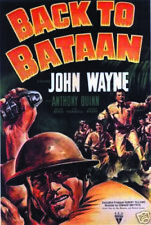 Back to Bataan John Wayne vintage movie poster print