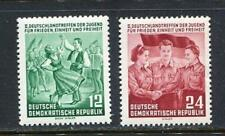 31222) DDR 1954 MNH** Nuovi** Meeting for peace 2v.