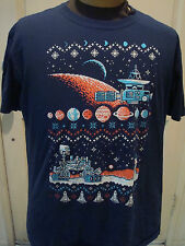 Mars Rover Space Station Pixel Christmas Shirt Space Invaders  XL