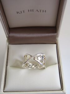 KIT HEATH WOMENS FLOURISH STERLING SILVER 925 RING GENUINE SIZE P 20010HPP01