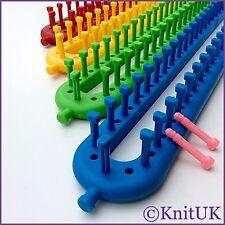 Telar de tejer knituk largos conjunto de 4. 1 Set/4 telares. extra-Clavijas incluido.