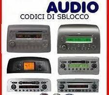 RECUPERO CODICE SBLOCCO AUTORADIO UNLOCK CODE RADIO - LANCIA - ALFA ROMEO
