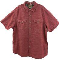 Woolrich Men's Button Down Short Sleeve Shirt Size XL