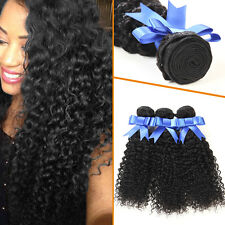 3 Bundles Curly Brazilian Kinky Curly Virgin Human Hair Extensions 8 to 24 Inch