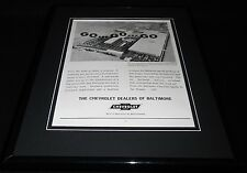 1961 Baltimore Chevrolet Dealers Framed 11x14 ORIGINAL Vintage Advertisement