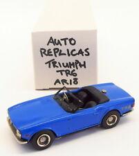 Auto Replicas 1/43 Scale White Metal Built Kit AR18 - Triumph TR6 - Blue