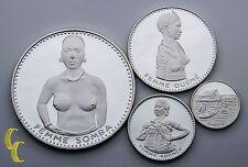 1971 Du Dahomey 100-1000 Francs 4 Piece Proof Silver Coin Lot
