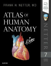 Atlas of Human Anatomy by Frank H. Netter (2018, Paperback, 7th Edition)
