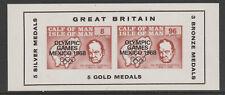 IOM Pantorrilla De Man 6057-Juegos Olímpicos 1968 & Churchill M/Hoja de Menta desmontado
