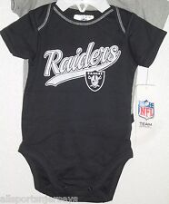 NFL NWT INFANT ONESIE-SET OF 2- OAKLAND RAIDERS 18M